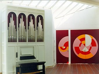 Martin Luther Kirche, Neckarsulm-Neuberg [Mönch-Orgelbau Überlingen: ORGEL-DISPOSITION]